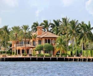 Upper Keys luxury homes for sale, photo of a luxury waterfront home part of a slide show