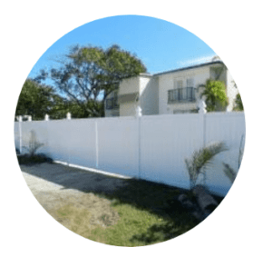 What is my home worth, picture of a house behind a fence